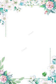 As flores de primavera pintadas de cor branca e o fundo decorado com folhas verdes Flower Background Wallpaper, Flower Phone Wallpaper, Flower Backgrounds, Wallpaper Backgrounds, Iphone Wallpaper, Boarder Designs, Page Borders Design, Doodle Frames, Free Graphics