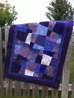 purple+and+blue+quilts | Purple Hopscotch | blue and White quilts