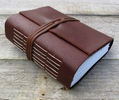 """Leather journal, Jack Kerouac quote, """"One day I will find the right words and they will be simple"""",  writing journal by moon and hare by MoonAndHare on Etsy"""