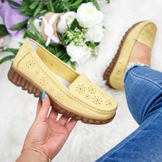 Mocasini dama piele naturala galbeni Viveca -rl Espadrilles, Casual, Shoes, Fashion, Espadrilles Outfit, Moda, Zapatos, Shoes Outlet, Fashion Styles