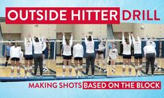 Michigan head coach Mark Rosen demonstrates a drill that teaches outside hitters to adapt to the block and decide which shots are available to attack. Check out the link for the cool drill!
