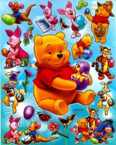 Winnie-the-Pooh & the Whole Gang Winnie The Pooh Pictures, Cute Winnie The Pooh, Winne The Pooh, Winnie The Pooh Quotes, Disney Nerd, Baby Disney, Eeyore, Tigger, Tiny Toons