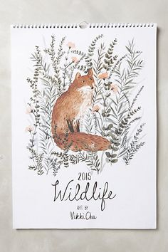 Wildlife 2015 Calendar #anthropologie