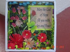 Art of quilling, Paper craft, Quilled flowers, Wall-hangings. CD Wall-hanging