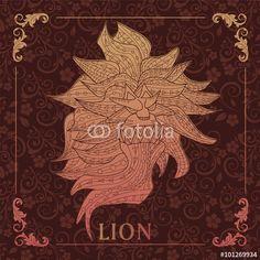 Vector: Lion,decorative picture
