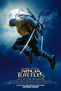 High resolution official theatrical movie poster ( of for Teenage Mutant Ninja Turtles: Out of the Shadows Image dimensions: 750 x Directed by Dave Green. Starring Megan Fox, Stephen Amell, Will Arnett, Laura Linney Ninja Turtles 2014, Ninja Turtles Movie, Teenage Mutant Ninja Turtles, Tmnt Turtles, Tortugas Ninja Leonardo, Tmnt Leo, Leonardo Tmnt, Mundo Comic, Michael Bay