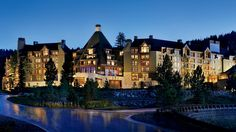 Ritz Carlton Resort is perched mid-mountain in a forest of pine trees at the Northstar at Lake Tahoe, Ca
