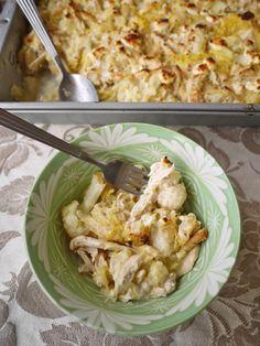 Creamy Spaghetti Squash Chicken Casserole (paleo) #PerchanceToCook
