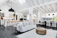 Blurring The Line Between Holiday Home and Boutique Hotel Big Living Rooms, Small Rooms, Living Area, Living Spaces, Indoor Outdoor Living, Outdoor Lounge, Interior Exterior, Interior Design, Interior Ideas