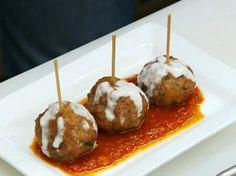 Meatball Tom Toms with Parmesan Cream Recipe : Robert Irvine : Food Network - FoodNetwork.com