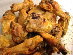 Crispy Baked Lemon Pepper Wings - One Moore Bite