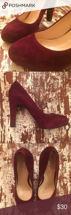 """Nine West - Suede Round Toe Pump Delicious burgundy suede heels by Nine West. Round toe. Light wear on soles, otherwise perfect condition. 4"""" heel Nine West Shoes Heels"""