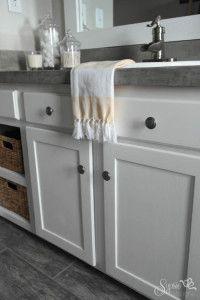 Builder Grade Bathroom Vanity Makeover (Plus Tutorial!) - Sypsie Designs