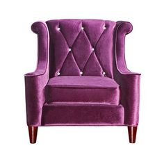 Barrister Velvet Chair Purple - perfect pop of color for a living room