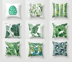 Tropical Plant Leaves Pillow coversThrow Pillow CaseCushion | Etsy Throw Pillow Cases, Pillow Covers, Throw Pillows, Tropical Decor, Tropical Plants, Brown Outdoor Furniture, Patio Furniture Cushions, Sofa Home, Blue Pillows