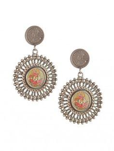 Floret Ganesha George V Earrings
