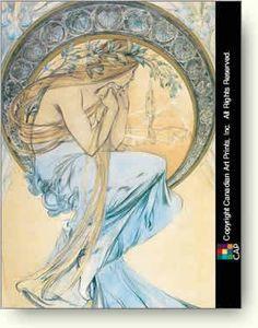 alphonse mucha prints   ... ・ミュシャ [Alphonse Mucha] アート ポスター 「Poetry