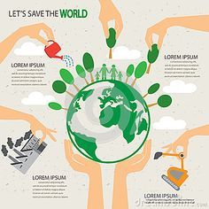 Eco tree infographics