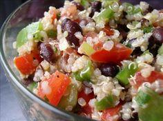 Quinoa Black Bean Salad Recipe - Low-cholesterol.Food.com - 152136