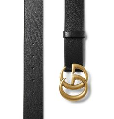 Fans of Gucci will certainly appreciate this belt's sizeable gold logo buckle. It's been made in Italy from black full-grain leather with a smooth backing and has a regular width that works with most jeans and trousers. English Shop, Mr Porter, Gucci Accessories, Gold Logo, Leather Belts, Fashion Advice, Bag Making, Calves, Dust Bag