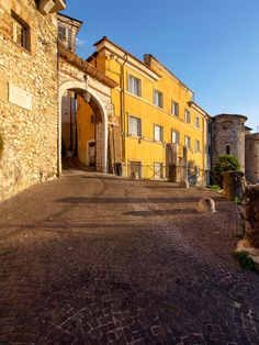Lazio Ceccano Gateway into the medieval fortified old town