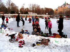 A sportsarena for ice-skating. Torshov park. Lilleborg sportsarena - Oslo. In the near application of Lilleborg primary school.