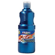Prang metallic paint..or any Prang paint is a notch above the cheaper brands. Doesn't chip or flake. Good coverage.
