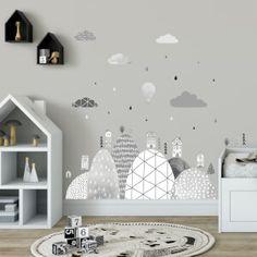 Nálepky na stenu - hviezdičky a oblaky | INSPIO Baby Room, Bedroom, Home Decor, Decoration Home, Room Decor, Bedrooms, Nursery, Infant Room, Home Interior Design