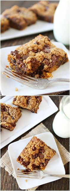 Pumpkin Chocolate Chip Streusel Cake Recipe on twopeasandtheirpod.com Love this easy cake! The streusel topping is SO good! #pumpkin #chocolate #cake