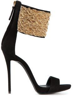Giuseppe Zanotti Design Chain Strap Stiletto Sandals - Biondini - Farfetch.com | cynthia reccord lbv
