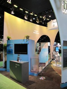 """A little too """"Trade show booth"""" looking, but some good elements in it's simplicity and signage"""