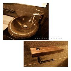 인더스트리얼인테리어 - 수영구 민락 롯데캐슬자이언트 45평 리모델링 / 무게감이 느껴지는 모던인테리어, 간접조명 활용 : 네이버 블로그 Sink, Vanity, Bathroom, House, Home Decor, Sink Tops, Dressing Tables, Washroom, Vessel Sink