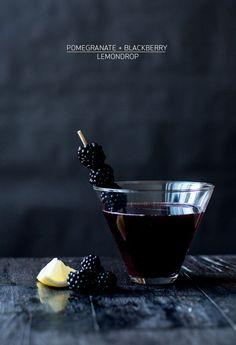 Blackberry pomegranate lemon drop