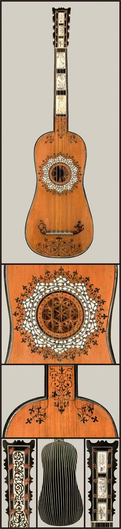 Guitar attributed to Matteo Sellas, 1640. Venice.