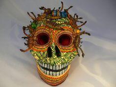 Totenschädel mit Skorpionen -Mexiko & der Tod