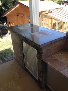 "2014 End of Summer Photo Contest Entry - John ""Outdoor Kitchen with Concrete Countertop integrally-colored using DCI Concrete Pigment #649 and Sealed with Lithium-Based Sealer/Hardener."""