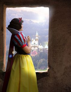 Snow White lived in a CASTLE!!!