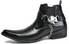 Sin gastos de envío! Western botas de herramientas, cuero de la pu dedo del pie puntiagudo chevalier méxico