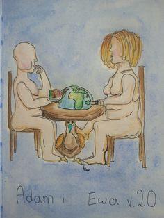 Adam & Eve 2.0. Bon appétit.   inspired by: https://m.youtube.com/watch?v=OC8_Sjlvxic