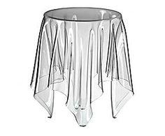 Mesa de policarbonato Ilusion - transparente