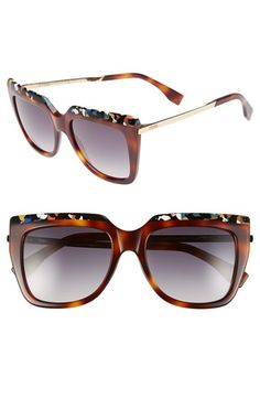 Fendi+53mm+Retro+Sunglasses+available+at+#Nordstrom