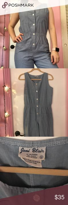 Chambray Jumpsuit Size Small This is a Chambray jumpsuit in a size small. Very trendy and looks super cute on. From a boutique near the coast. Great for your spring and summer adventures. Looks great with sandals. Bundle up! Pants Jumpsuits & Rompers