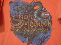 Harley Davidson Mens 2XL T Shirt Smoky Mountain HD I Rode the Dragon US 129 TN #HarleyDavidson #GraphicTee