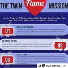 Repost @twin_flames_1111 (Cassady Cayne)👐💙👐 Everything You Need To Know About The #TwinFlameMission ❤️ #UnconditionalLove, Bridging Key Codes Into Earth, Unification into One, The True Purpose of #TwinFlameRunning and Separation - It's All Here In This Brand New #Infographic ... Infographics are one of my favorite ways of presenting information - and from what I've heard from you, you enjoy them too! So this week, here's a brand new infographic on the Twin Flame Mission. And spirit had a…