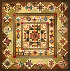 "medallionquilts | Aunt Lucy's Medallion Quilt - ""The Quilted Crow Quilt Shop, folk art ..."