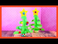 Christmas Tree Craft for Kids - fun paper Christmas craft idea - YouTube