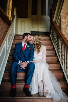 A bride wearing David Fielden for her glamorous gold Winter wedding at Elmore Court in Gloucestershire. Photography by Joanna Brown.