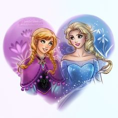Anna and Elsa - a bit refreshed picture from the past which I really like. :)