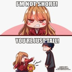 My feelings toward all people who call me 'short' , Anime Memes - My Manga Anime Meme, Otaku Anime, Me Anime, I Love Anime, Manga Anime, Anime Qoutes, Anime Chibi, Short People Problems, Short Girl Problems
