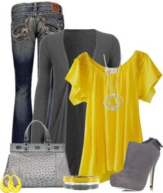 """Yellow"" by cindycook10 ❤ liked on Polyvore"